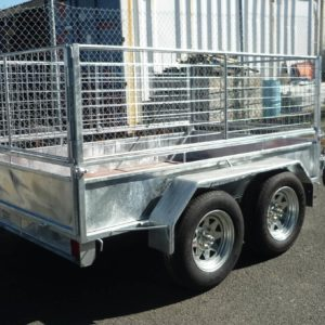Tandem Trailer with cage