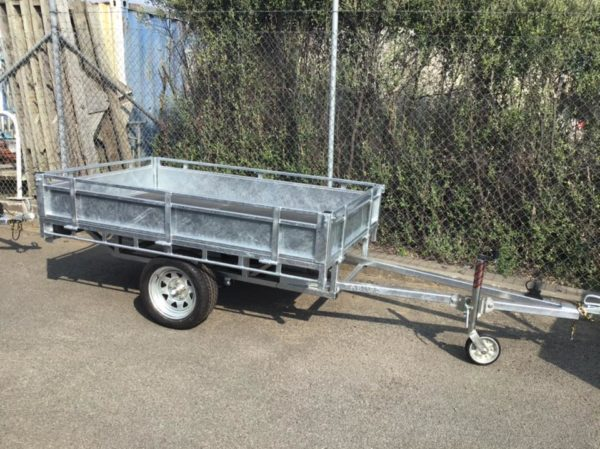 Single Axle Trailer with drop sides up