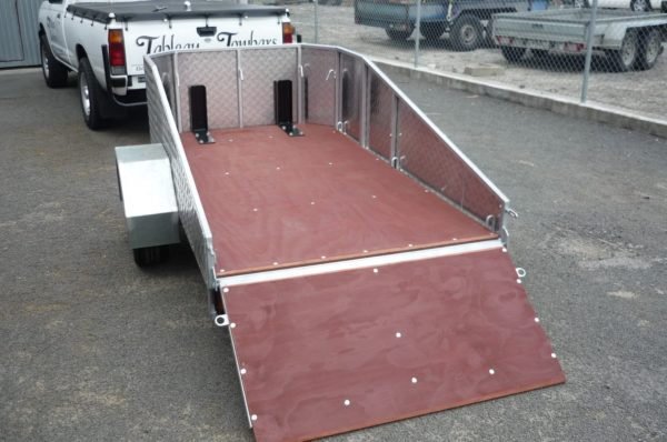 motorcycle trailer flatbed