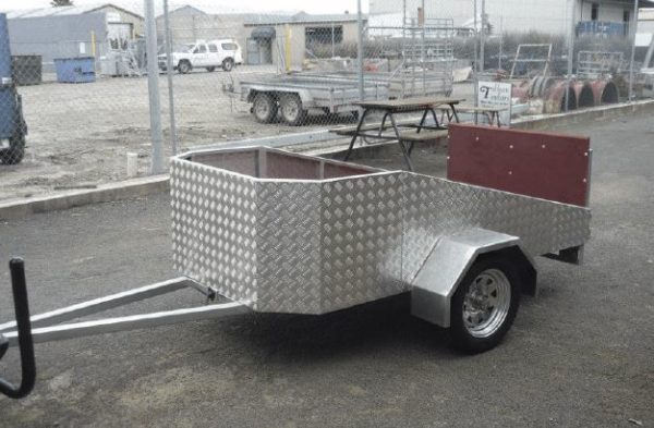 motorcycle trailer flatbed front