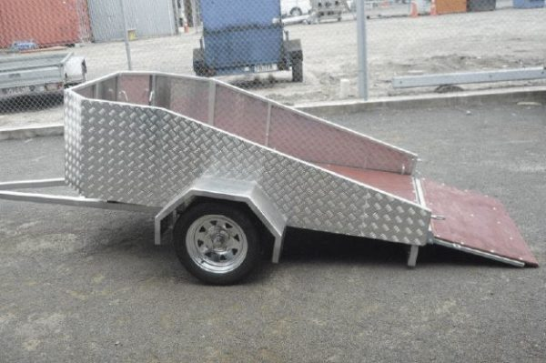 motorcycle trailer flatbed side