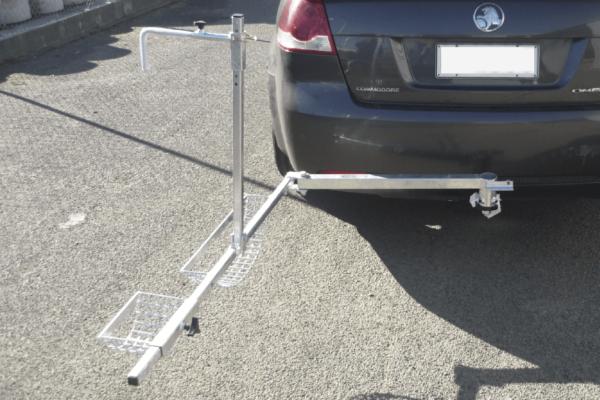 Towbar Wheelchair carrier open