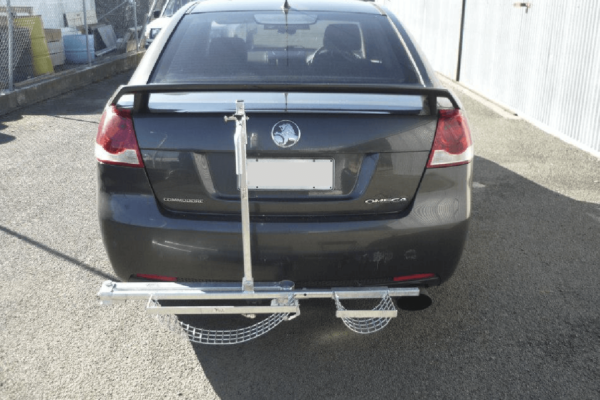 Towbar wheelchair carrier closed
